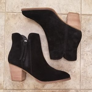 NEW FRYE & CO. LEATHER BLACK NWT ANKLE BOOTIES